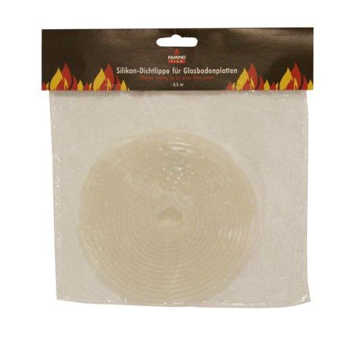 Kamino-Flam 338110 Dichtlippe für Glasbodenplatte Silikondichtlippe, Mehrfarbig, ca. 4,5 m