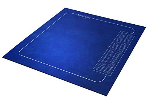 Tapis belote Bleu avec Points 60x60 cm