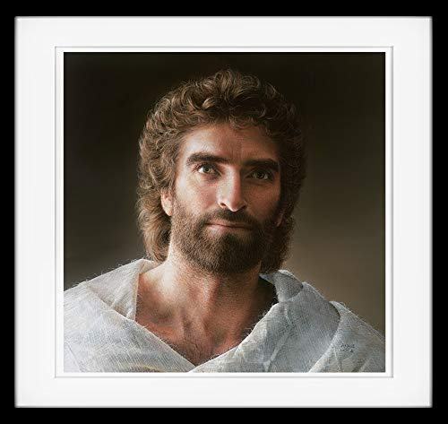 Jesus 12x12 Double Matted & Framed Paper Print
