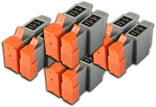 8Compatible BCI-21BCI-24non-OEM Cartuchos de tinta para Canon BJC-4300impresoras