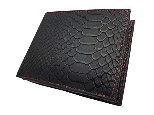 Roamlite Herenportemonnee in Designer Snake Skin Pu Faux Leather met 8 Credit Card Slots en 2 Bank Note Spaces, Slimline Grootte 11,5 cm x9 x1.5 RL190SNM