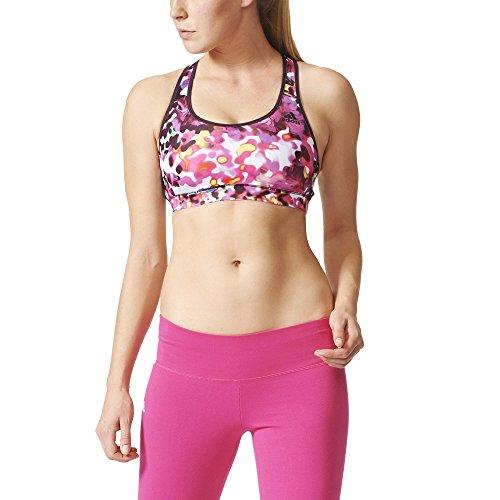 adidas Damen Sport-BH Flowers Racerback T-Shirt, Gelb/Weiß/Rosa, L