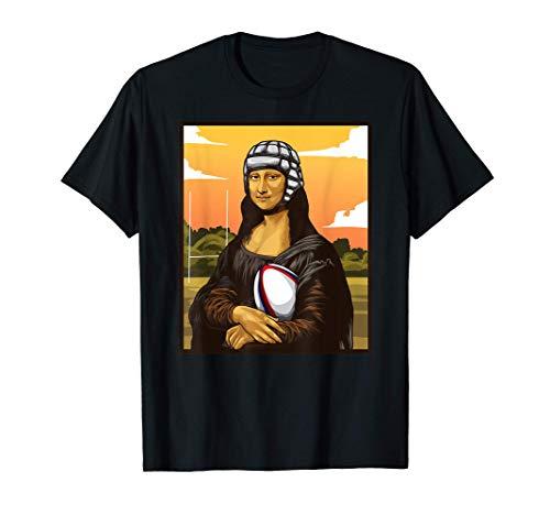 Mona Lisa adora il rugby! Regalo divertente per fan di rugby Maglietta