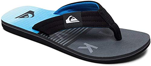 Quiksilver Herren Molokai - Flip-Flops for Men Badeschuhe, Black/Grey/Blue, 41 EU
