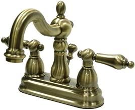 Kingston Brass KB1603AL 4 in. Centerset Bathroom Faucet, Antique Brass