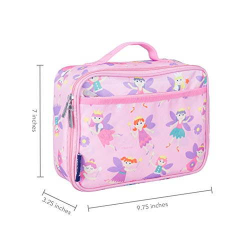 Wildkin Kids Insulated Lunch Box for Boys and Girls, Perfect Size for Packing Hot or Cold Snacks for School and Travel, Mom's Choice Award Winner, BPA-free, Olive Kids (Fairy Princess)