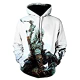 TANGNIU Assassin'S Creed-Suéteres 3D, Sudaderas con Capucha, Sudaderas, Jerseys, Camisas Unisex para Parejas, Chaquetas Informales Transpirables, Regalos para Niños Hoodies-S