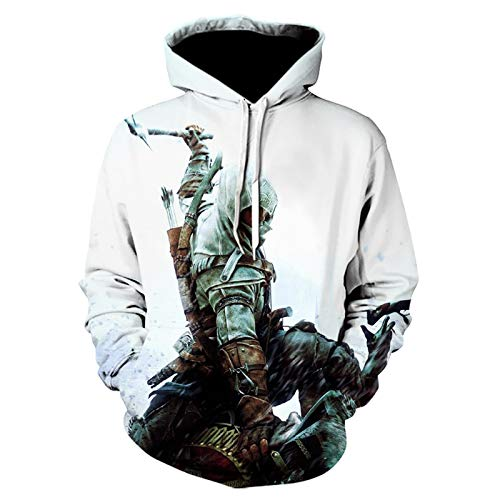 CYANDJ-Assassin's Creed-Unisex Sweater 3D Hoodie Long Sleeve Casual Breathable Pullover Boy Sweatshirt Coat Jacket-04/S
