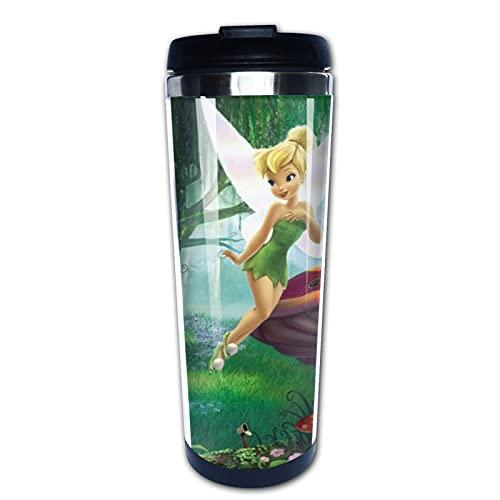 Disney Fairy - Taza aislada duradera para viaje, botella de agua con aislamiento al vacío, de acero inoxidable