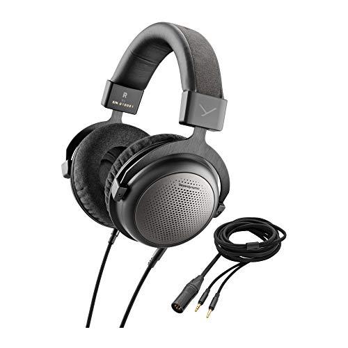 beyerdynamic T1 3rd Gen Dynamic High-End Tesla Headphones Audiophile Connection Cable Audiophile Balanced XLR–4 Connection Cable Bundle (2 Items)