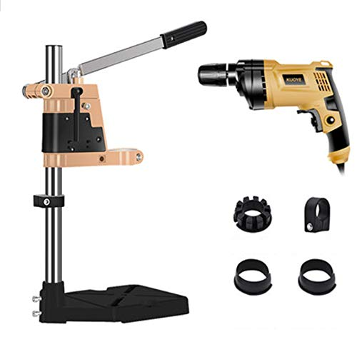 Pillar Drill High Precision, Work Benches Portable Thickened Column, Benchtop Drill Presses for Drilling Wood, Aluminum, Iron, Steel Plate,D
