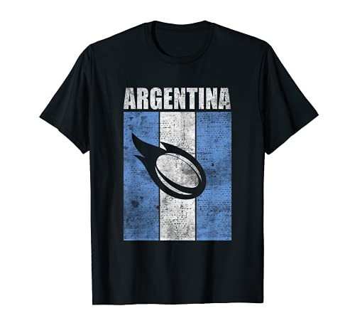 Argentinien Rugby Argentinische Flagge Retro Vintage Art T-Shirt