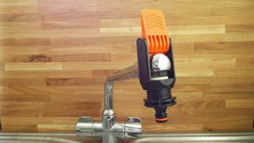 Gardiflex - Grifo monomando universal para cocina interior, conector adaptador ajustable