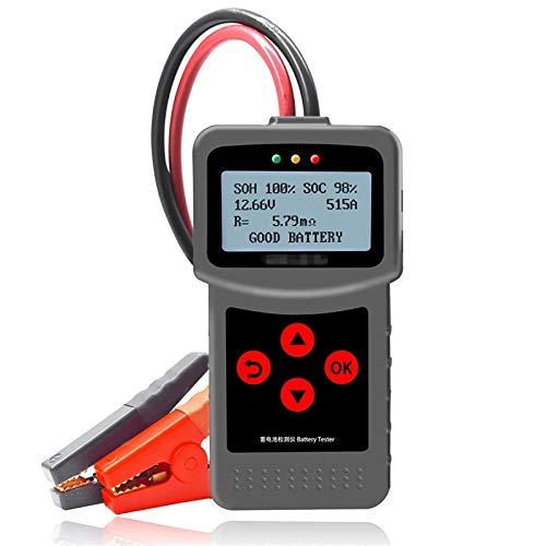 YaGFeng Probador De Batería De Coche Probador De Batería De Carga 12V Y 24VAUTOMOTOMETIVE Multi-IDIA 30-220AH con USB para Imprimir Adecuado para Coche Camión (Color : Black, Size : One Size)