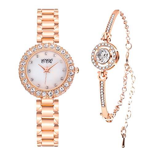 Routefuture La Femme Fille Vintage Montre Bracelet Luxueuse en Acier Montre Mode Chic Pas Cher pour Robe Soirée Cocktail Cadeau #E02