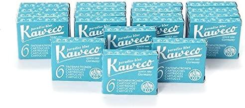 Kaweco Fountain Pen Ink Cartridges short, Paradise Blue (Turquoise), 120 pc.