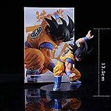 XXSDDM-WJ Regalo Dragon Ball Anime Figura 13 5 cm Cabello Negro Estatua de Goku Modelo Goku Coleccionables Decoraciones Recuerdo Amantes de Las Marionetas Regalo Goku-Goku RD7-Goku