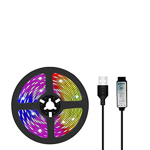 Marekyhm-es Bluetooth USB LED Tira de luz Luces de luz Flexible Impermeable lámpara Cinta Cinta de televisión diodo de Escritorio Cinta (Color : Waterproof, Emitting Color : USB Bluetooth)