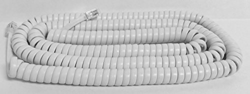 The VoIP Lounge Replacement 25 Foot Long White Handset Curly Cord for AT&T Phone