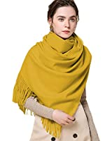 Infinity Scarf Blanket Cashmere Women Men Yellow,LONGWEIZ Unisex Winter Warm Cozy Scarf for Women and Men