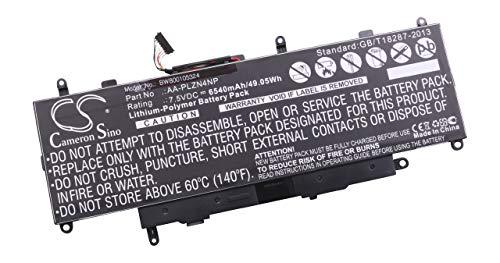 vhbw Akku passend für Samsung ATIV Pro, XE700T1C, XE700T1C-A01BE, XE700T1C-A01CA Notebook (6540mAh, 7.5V, Li-Polymer, schwarz)