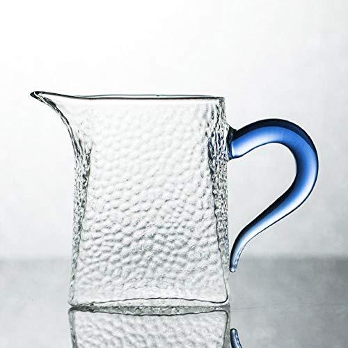Glaseres Juego de Vasos de Cristal Resistente al Calor con diseño de Martillo para el hogar Azul