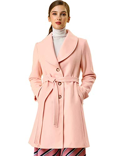 affordable light pink coat for women