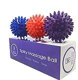 Radical Health Store-Foot Massage Ball Set - Spiky Massager Balls for Deep Tissue, Trigger Point, Feet, Back, Hand, Muscles, Myofascial, Plantar Fasciitis That Massages Away (Red)