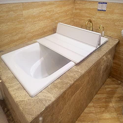UQEGO Faltende Belastbar Badewannenbretter Stilvolle wasserdichte Dämmplatte Badewannen Multifunktionale Badewannenabdeckung Badezimmer Regal (180 * 80cm)