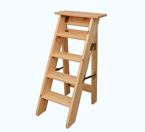 YUEDAI Paso Stool 5 Tier Escalera Plegable del hogar sólido Escala de...