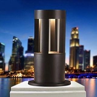 柱ライト屋外10W LEDコラムライトブラックアルミニウム防水外装ポストランタンパーク芝生フロアランプガーデンドライブウェイボラードテーブルライトパティオランドスケープストリートパスウェイライティングIP6