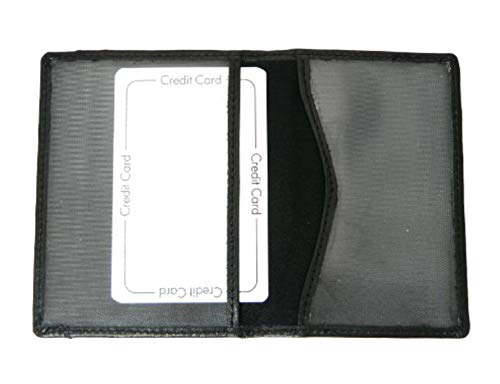 Genuine Leather Travel Pass/Oyster/Credit Card Holder Wallet - BLACK Color