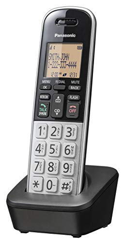 Panasonic Compact Cordless Phone with DECT 6.0, 1.6' Amber LCD and...