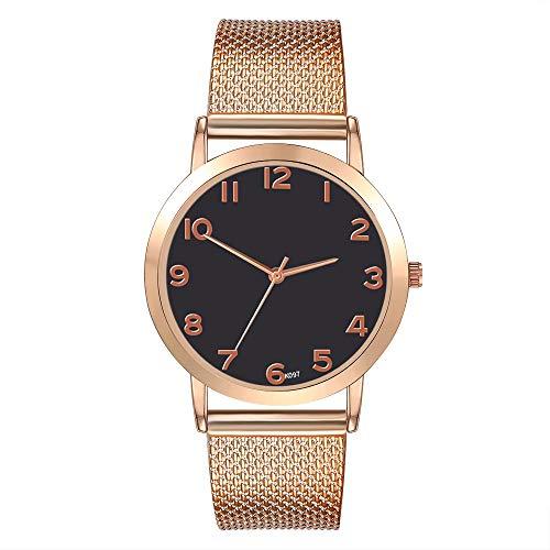 Neueste! Damen Uhren Analog Quarz Edelstahl Damenuhren Einfaches Analog mit Mesh Ultradünne Quarz Uhr LEEDY