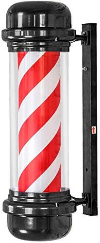 N / A Barber Salon de Coiffure pôle lumière imperméable à l'eau tournante Salon de beauté clignoteur, Salon de Coiffure LED Logo Lampe Mur rétro Salon de Coiffure imperméable Bar extérieur Rouge et.