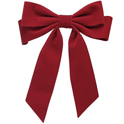 SUKOKOLA Red Cute großes Band Französisch Haarspange Party Haarschleife Clip Haarnadel