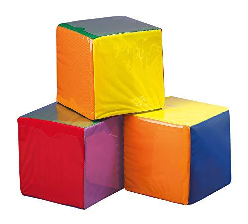 FLIXI Würfel mit Taschen 3er Set, Einstecktaschen - Schaumstoffwürfel, Taschenwürfel - für Kinder und Erwachsene