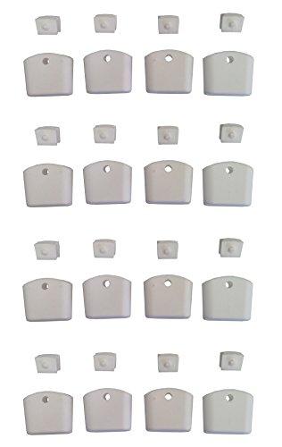 Set 16 plastiche per piedi sedia modello romantico, colore bianco