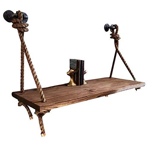 Wangczdz Draagbaar rek om op te hangen aan de muur of aan tafel, industrieel retro-hout, geschikt voor woonkamer, familie, binnenruimte, slaapkamer