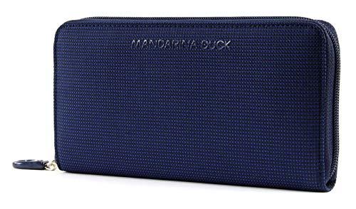 Mandarina Duck QMPN1 Porte monnaie de Sintético Mujer, color Azul, talla 2x10x18.5 cm (B x H x T)