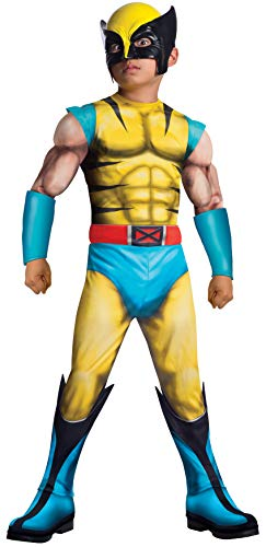 Rubies Marvel Universe Classic Collection Deluxe Fiber-Filled Muscle-Chest Wolverine Costume, Large (12-14) by Rubie's