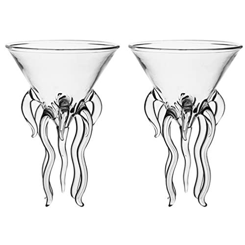 Cabilock Margarita Occhiali di Vetro Chiaro da Cocktail Coppe Creativo Bicchieri da Cocktail Goletta di Uragano di Vetro Occhiali Footed Bicchiere da Dessert Tazza di Budino di Yogurt