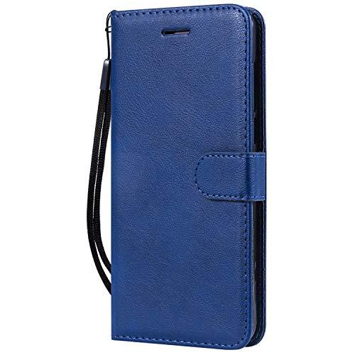 Hülle für Nokia 3.1Plus Hülle Handyhülle [Standfunktion] [Kartenfach] Tasche Flip Hülle Cover Etui Schutzhülle lederhülle flip case für Nokia 3.1 Plus - DEKT051455 Blau