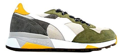 Diadora Heritage, Uomo, Trident 90 C SW Olive, Pelle/Canvas, Sneakers, Verde, 41 EU