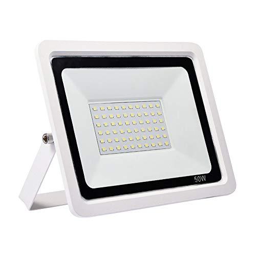 Viugreum Faretto LED da Esterno 50W, 4000LM Fari di Sicurezza, Lampada Luce Potente Luce Bianca (6500K) Faro a LED da Esterno Impermeabile IP67 per per Parcheggio, Ingresso, Corridoio, Garage