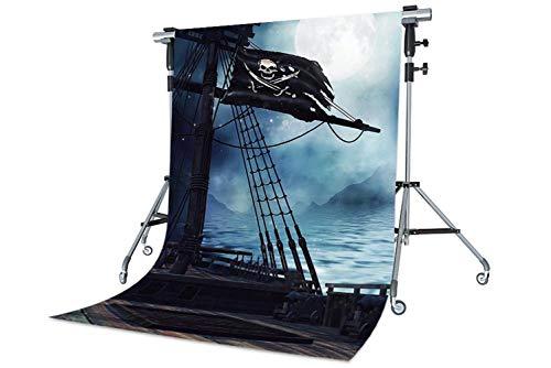 Kate Fondos Fotografia Marinero 1.5x2.2m para Pirata Cosplay Fiesta Telón de Fondo Barco de Madera Para Fotográficos Estudio Niños
