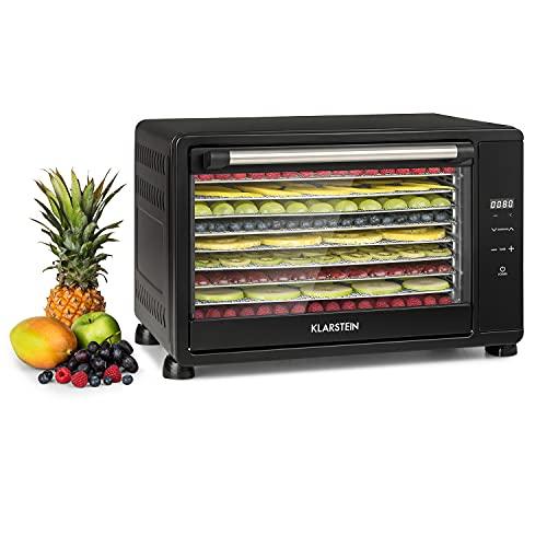 Klarstein Mega Jerky - Deshidratador de alimentos 650W, Deshidratadora de frutas y verduras 45L, Carcasa de metal, 8 estantes...