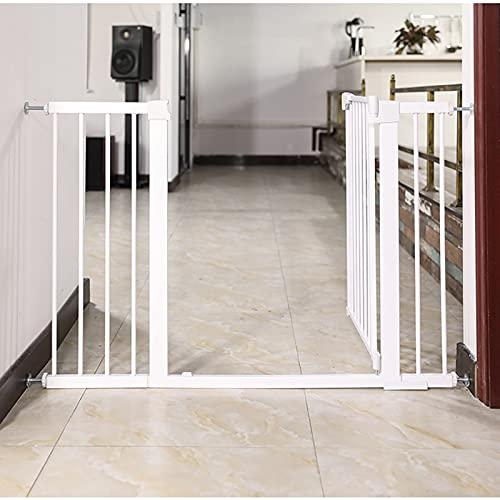 Puerta de Seguridad de Metal Seguridad infantil escalera Barrera de seguridad bebés, niños y perros, Ideal para perros o gatos, en escaleras en interiores y exteriores
