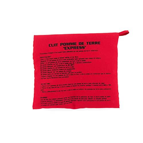 Cuisy KC22531/ED Sac Cuiseur Pomme De Terre Rouge Micro-Onde Lavable Reutilisable Cuisson Rapide, Textile-Polyester, 26 x 20 x 2,5 cm