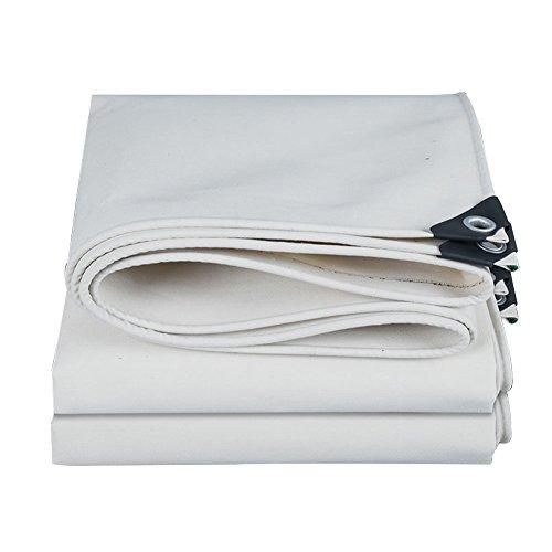 175G // M/² GG-tarpaulin Toile de b/âche imperm/éable Protection Contre Le Soleil en Plein air /Étanche au Vent Anti-oxydation R/ésistant /à lusure Anti-poussi/ère Epaisseur 0.32mm Taille 9 Blanc-2x3m